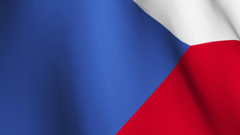 Flag of The Czech Republic Animation
