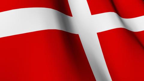 Danish Flag Stock Video Footage