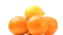 Pyramid of oranges Stock Video Footage