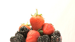 Cluster of Strawberries and blackberries 2 Footage