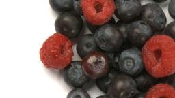 raspberries and blueberries 2 Footage