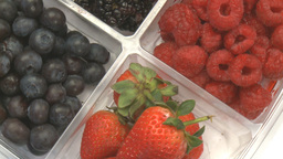 Blueberries, Strawberries, Blackberries 3 Footage