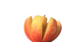 Cut apple Footage