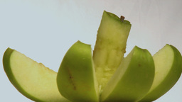 cut green apple Footage