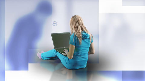 Woman working with her laptop Stock Video Footage