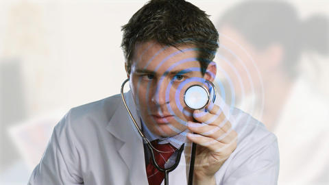 Doctor Holding a stethoscope Animation