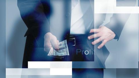 Businessman Holding Money stock footage