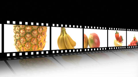 Assortment of Fruit and veg Animation