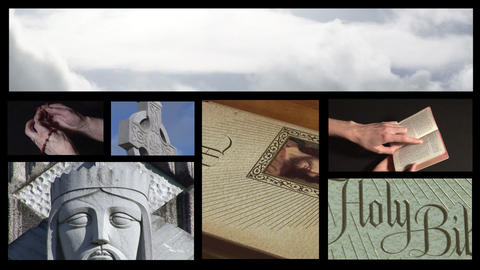 Collage of Religious footage 5 Stock Video Footage
