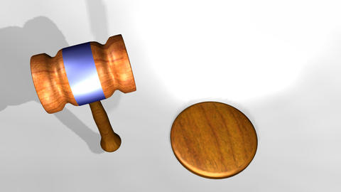 3D animation of a judges gavel Animation