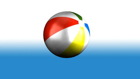 Beach Ball Spinning Stock Video Footage