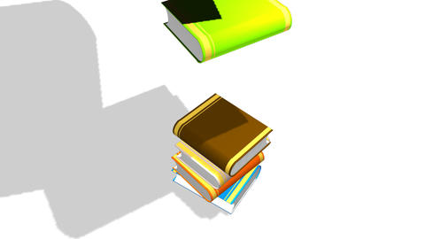 Books Being arranged Animation