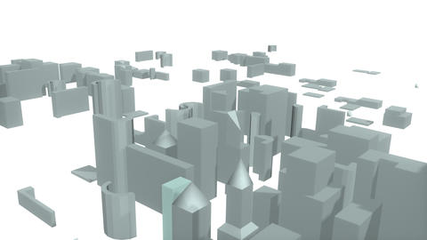 3d City Forming From The Bottom stock footage