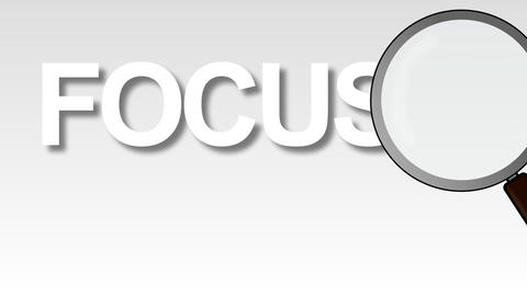 Focus Word Magnified Animation
