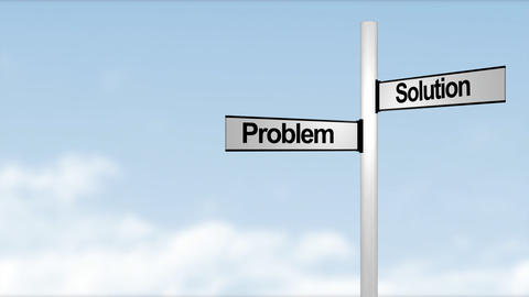 Problem Solution signpost Stock Video Footage