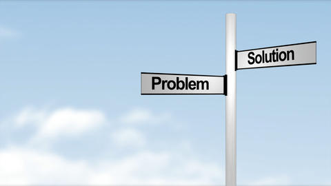 Problem Solution signpost Footage