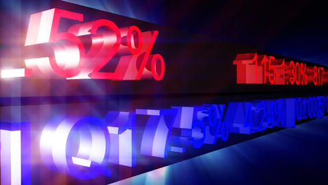 stock market figures in motion Stock Video Footage