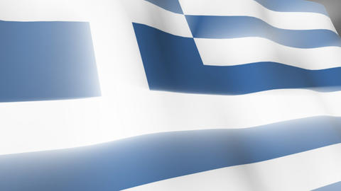 Greek Falg Stock Video Footage