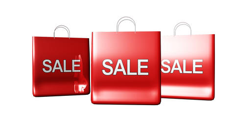 Bags with Sale sign Animation