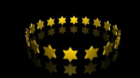 Stars turning Footage