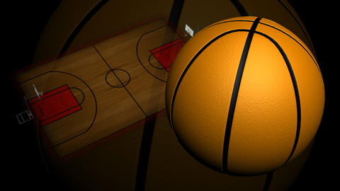 Animated Basketball Court Stock Video Footage