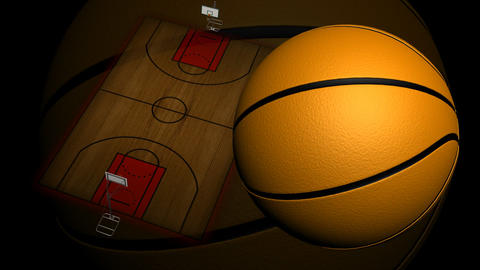 Animated Basketball Court stock footage