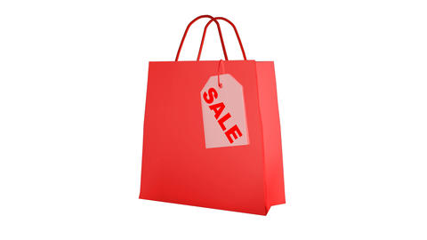 Shopping bag animated Stock Video Footage