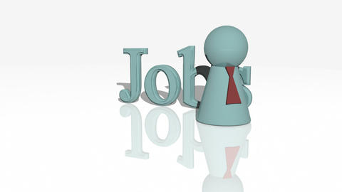 Jobs concept animation Stock Video Footage