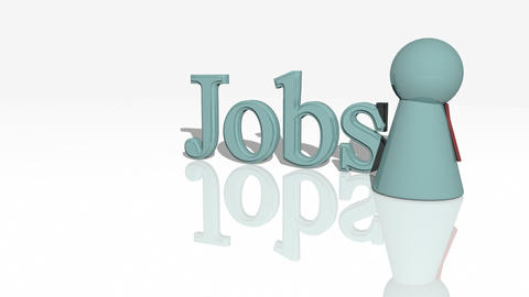 Jobs Concept Animation stock footage