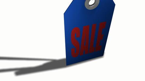 3d Sale Tag Footage
