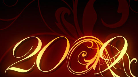 2009 Animated Text stock footage