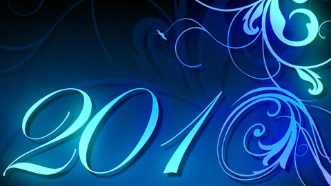 2010 Animated Text stock footage
