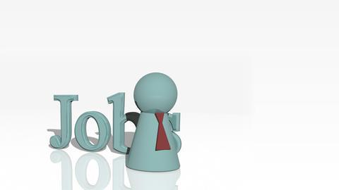 Jobs 3d advertisement Stock Video Footage
