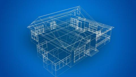 3d animated blueprints Footage