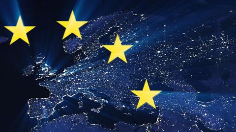 European Union Flag Stock Video Footage