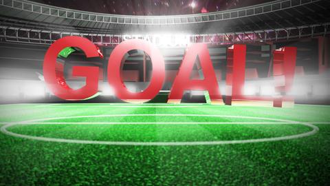 Stadium celebrating a goal Footage