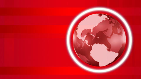 Red 3d Globe Stock Video Footage
