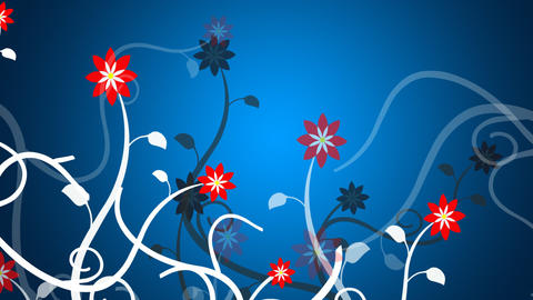 Growing vines in a blue background Stock Video Footage