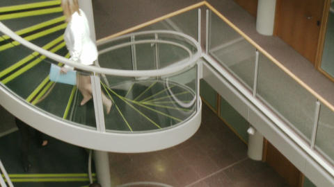 Business people going upstairs in High Definition Animation