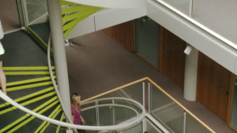 Business people going upstairs in High Definition Stock Video Footage
