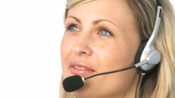 Woman Talking on a Headset Animation