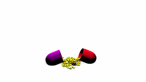 Medical Pill opening Stock Video Footage