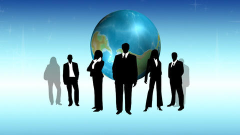 Global Business Team Footage