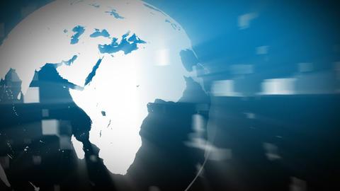 3d Globe turning Animation