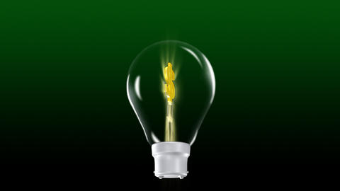 Dollar in a Light Bulb Stock Video Footage