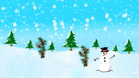 Happy Christmas Scene Animation