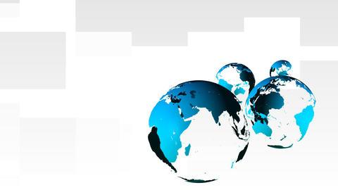 3d Globe Rotating Animation