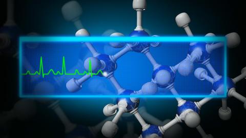 3d Molecule animation Animation