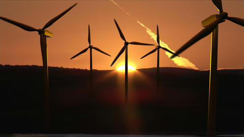 Wind Turbines in motion Footage