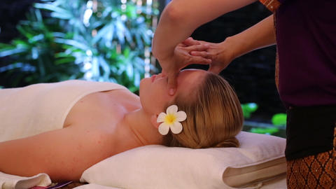 Young woman getting spa Footage